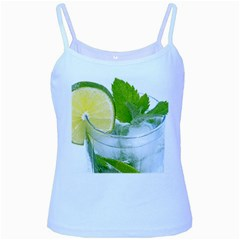 Cold Drink Lime Drink Cocktail Baby Blue Spaghetti Tank by Amaryn4rt