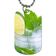 Cold Drink Lime Drink Cocktail Dog Tag (one Side) by Amaryn4rt