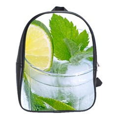 Cold Drink Lime Drink Cocktail School Bags(large)  by Amaryn4rt