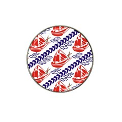 Sailing Boat Hat Clip Ball Marker by Jojostore