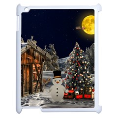 Christmas Landscape Apple Ipad 2 Case (white) by Amaryn4rt
