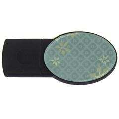 Shadow Flower USB Flash Drive Oval (2 GB)  by Jojostore