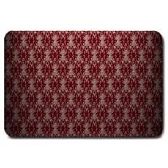 Red Vintage Large Doormat  by Jojostore