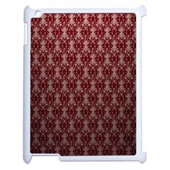Red Vintage Apple Ipad 2 Case (white) by Jojostore