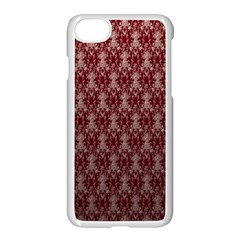 Red Vintage Apple Iphone 7 Seamless Case (white) by Jojostore