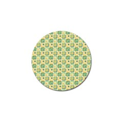 Square Green Yellow Golf Ball Marker (10 Pack) by Jojostore