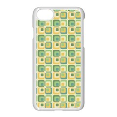 Square Green Yellow Apple Iphone 7 Seamless Case (white) by Jojostore