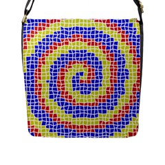 Red Blue Yellow Flap Messenger Bag (l)  by Jojostore