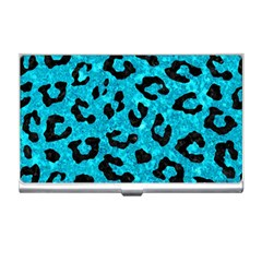 Skin5 Black Marble & Turquoise Marble Business Card Holder by trendistuff