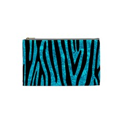 Skin4 Black Marble & Turquoise Marble Cosmetic Bag (small) by trendistuff