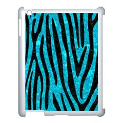 Skin4 Black Marble & Turquoise Marble Apple Ipad 3/4 Case (white) by trendistuff