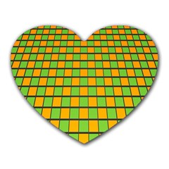 Tile Of Yellow And Green Heart Mousepads by Jojostore