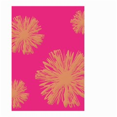 Yellow Flowers On Pink Background Pink Small Garden Flag (two Sides) by Jojostore