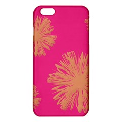 Yellow Flowers On Pink Background Pink iPhone 6 Plus/6S Plus TPU Case