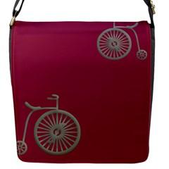 Rose Pink Fushia Flap Messenger Bag (s) by Jojostore