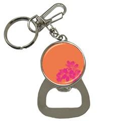 Flower Orange Pink Button Necklaces by Jojostore