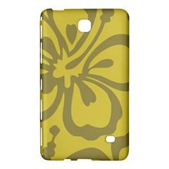 Flower Gray Yellow Samsung Galaxy Tab 4 (8 ) Hardshell Case  by Jojostore