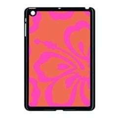 Flower Pink Orange Apple Ipad Mini Case (black) by Jojostore