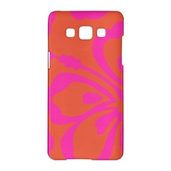 Flower Pink Orange Samsung Galaxy A5 Hardshell Case  by Jojostore