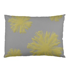 Flower Yellow Gray Pillow Case by Jojostore