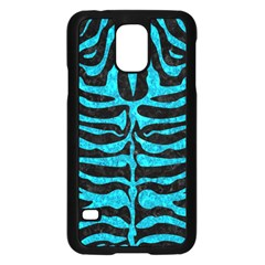 Skin2 Black Marble & Turquoise Marble Samsung Galaxy S5 Case (black) by trendistuff