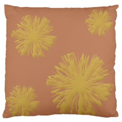 Flower Yellow Brown Standard Flano Cushion Case (two Sides) by Jojostore