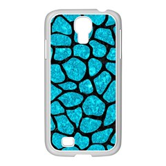 Skin1 Black Marble & Turquoise Marble Samsung Galaxy S4 I9500/ I9505 Case (white) by trendistuff