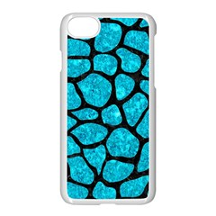 Skin1 Black Marble & Turquoise Marble Apple Iphone 7 Seamless Case (white) by trendistuff