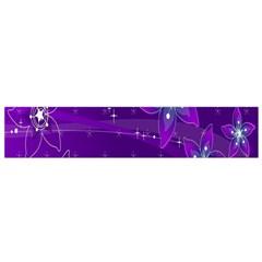 Flowers Purple Flano Scarf (small) by Jojostore