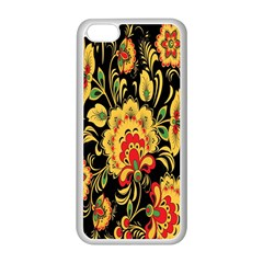 Flower Yellow Green Red Apple Iphone 5c Seamless Case (white) by Jojostore