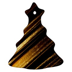 Gold Christmas Tree Ornament (2 Sides) by Jojostore