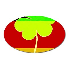 Irish German Germany Ireland Funny St Patrick Flag Oval Magnet by yoursparklingshop