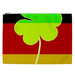 Irish German Germany Ireland Funny St Patrick Flag Cosmetic Bag (xxl)  by yoursparklingshop