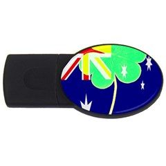 Irish Australian Australia Ireland Shamrock Funny St Patrick Flag Usb Flash Drive Oval (2 Gb)  by yoursparklingshop