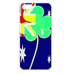 Irish Australian Australia Ireland Shamrock Funny St Patrick Flag Apple Iphone 5 Seamless Case (white) by yoursparklingshop