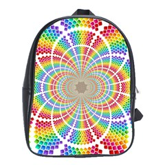 Color Background Structure Lines School Bags (xl)  by Amaryn4rt