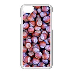 Hazelnuts Nuts Market Brown Nut Apple iPhone 7 Seamless Case (White) by Amaryn4rt