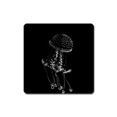 Jellyfish Underwater Sea Nature Square Magnet by Amaryn4rt