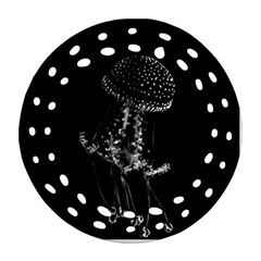 Jellyfish Underwater Sea Nature Ornament (round Filigree)  by Amaryn4rt