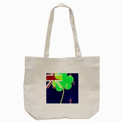 Irishshamrock New Zealand Ireland Funny St Patrick Flag Tote Bag (cream) by yoursparklingshop