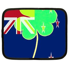 Irishshamrock New Zealand Ireland Funny St Patrick Flag Netbook Case (xxl)  by yoursparklingshop