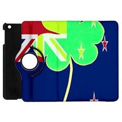 Irishshamrock New Zealand Ireland Funny St Patrick Flag Apple Ipad Mini Flip 360 Case by yoursparklingshop