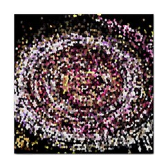 Mosaic Colorful Abstract Circular Face Towel by Amaryn4rt