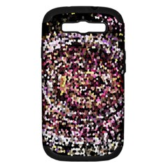 Mosaic Colorful Abstract Circular Samsung Galaxy S Iii Hardshell Case (pc+silicone) by Amaryn4rt