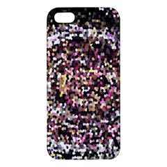 Mosaic Colorful Abstract Circular Apple Iphone 5 Premium Hardshell Case by Amaryn4rt