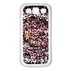 Mosaic Colorful Abstract Circular Samsung Galaxy S3 Back Case (white) by Amaryn4rt