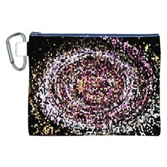 Mosaic Colorful Abstract Circular Canvas Cosmetic Bag (xxl) by Amaryn4rt