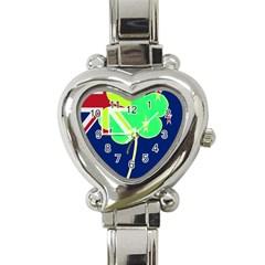 Irish Shamrock New Zealand Ireland Funny St Patrick Flag Heart Italian Charm Watch by yoursparklingshop