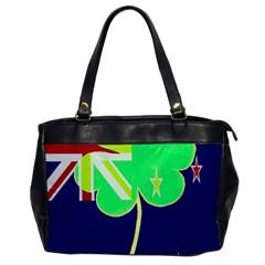 Irish Shamrock New Zealand Ireland Funny St Patrick Flag Office Handbags by yoursparklingshop