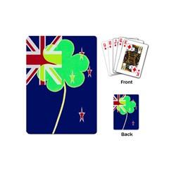 Irish Shamrock New Zealand Ireland Funny St Patrick Flag Playing Cards (mini)  by yoursparklingshop